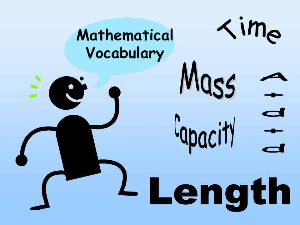 Mathematical Vocabulary