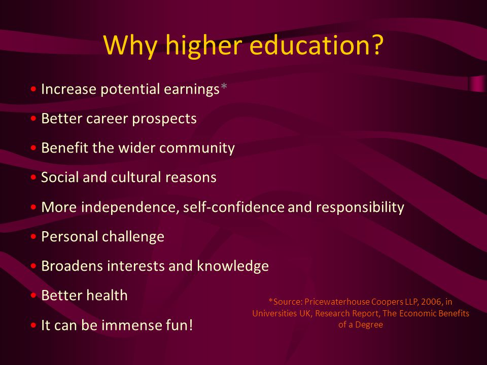 Why higher education.
