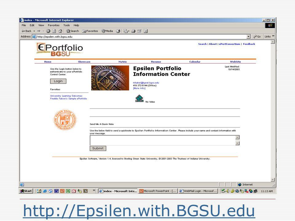 http://Epsilen.with.BGSU.edu