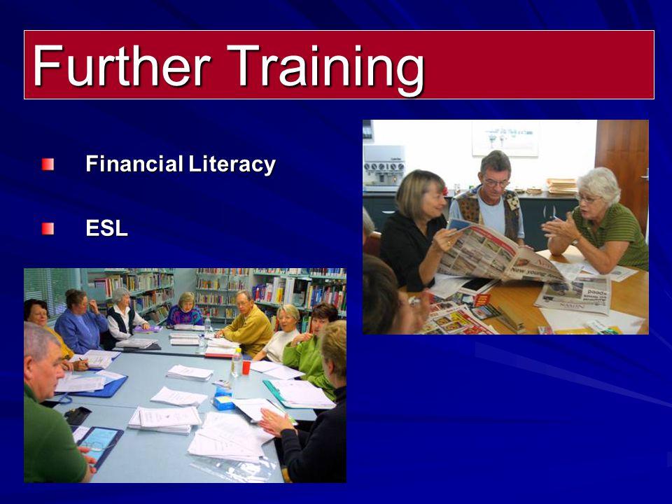Further Training Financial Literacy ESL
