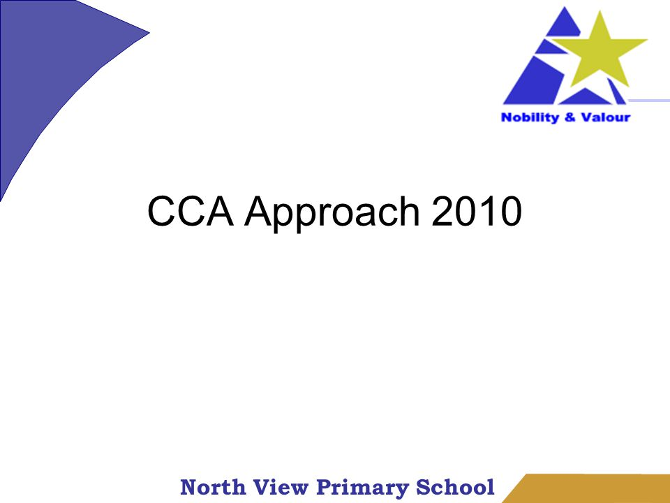North View Primary School CCA Approach 2010