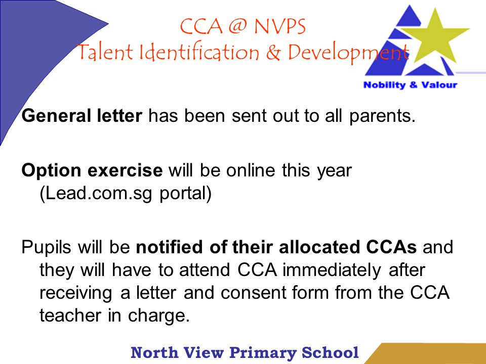 North View Primary School General letter has been sent out to all parents.