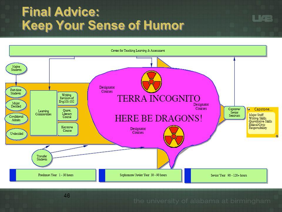 46 Final Advice: Keep Your Sense of Humor