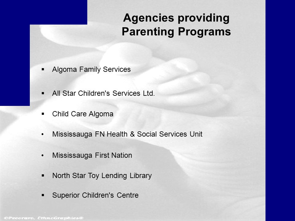 Agencies providing Parenting Programs  Algoma Family Services  All Star Children s Services Ltd.