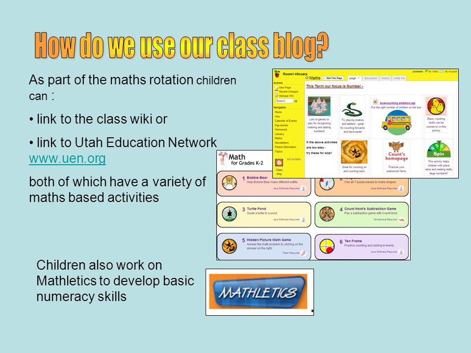As part of the literacy task board rotation children can: link to the class wiki and a selection of reading / writing activities.