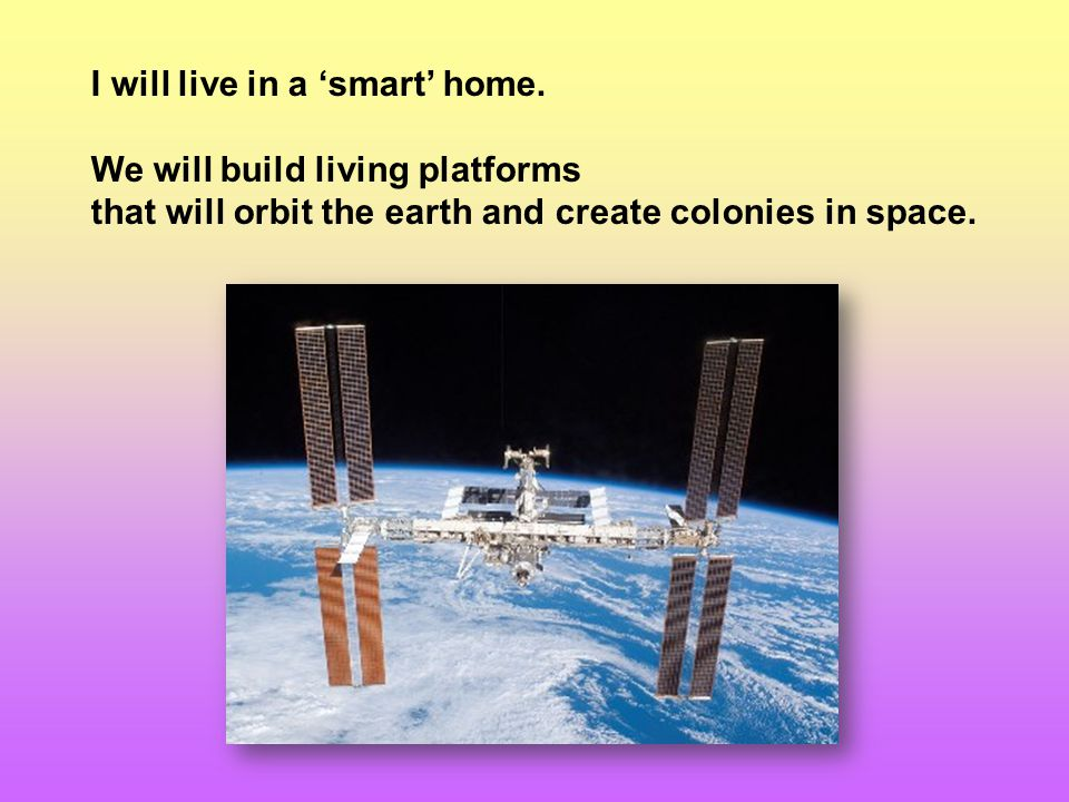 I will live in a 'smart' home.