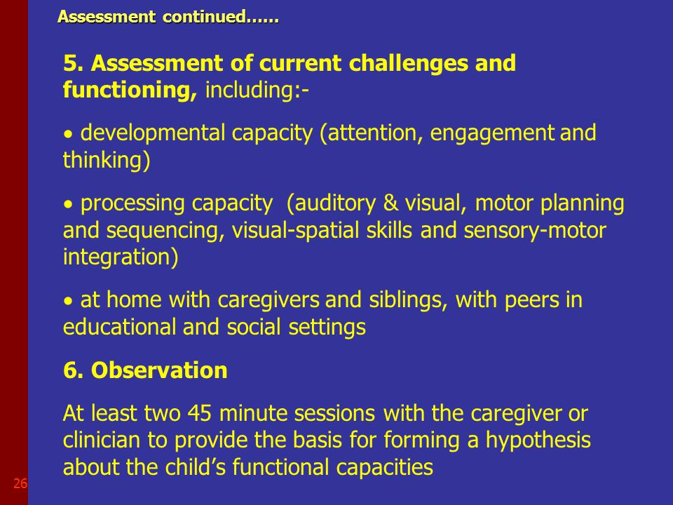 25 Screening and diagnosis of autism ……..