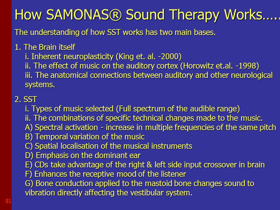 80 Sound Therapy…….