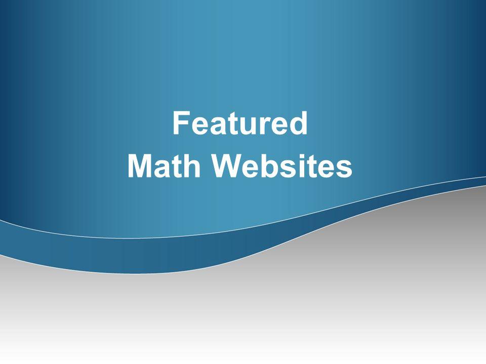 Featured Math Websites