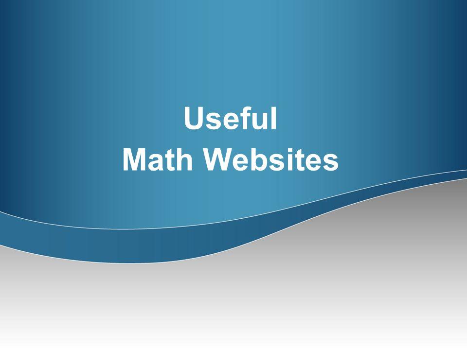 Useful Math Websites