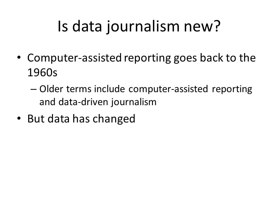Is data journalism new.