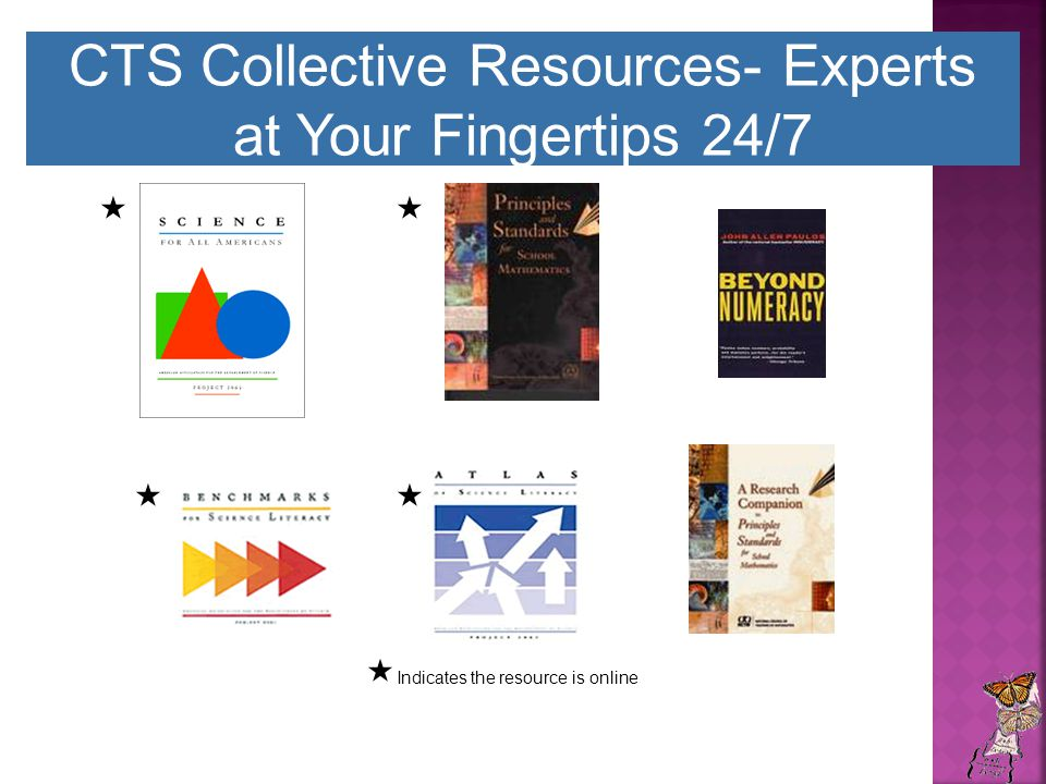 CTS Collective Resources- Experts at Your Fingertips 24/7    Indicates the resource is online