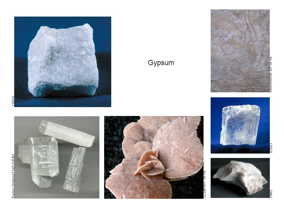 Gypsum USGS Eurico Zimbres FGEL/UERJ GNU by-nc: cobalt123 USGS by-nc-nd: skylarprimm