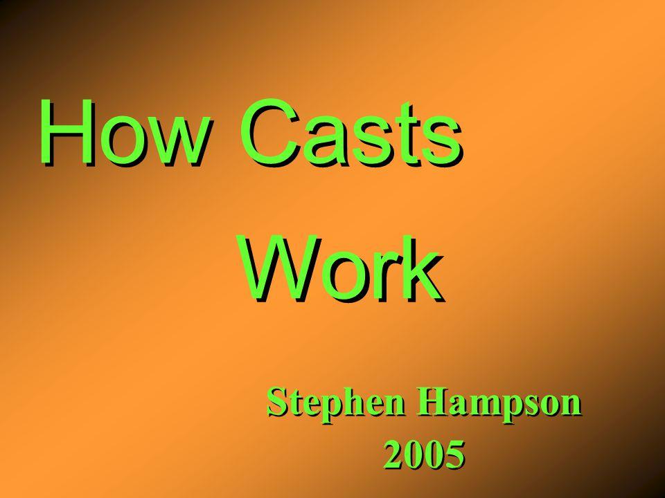 How Casts Stephen Hampson 2005 Stephen Hampson 2005 Work