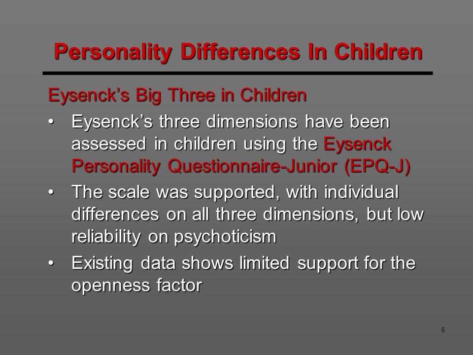 27 External Influences on Personality Development