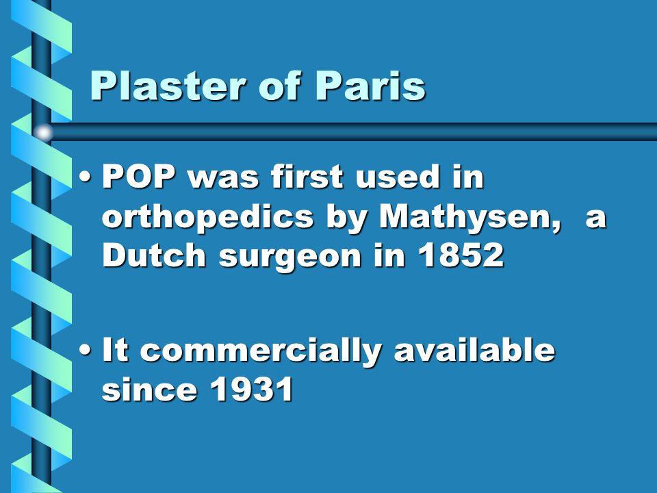 Plaster of ParisPlaster of Paris
