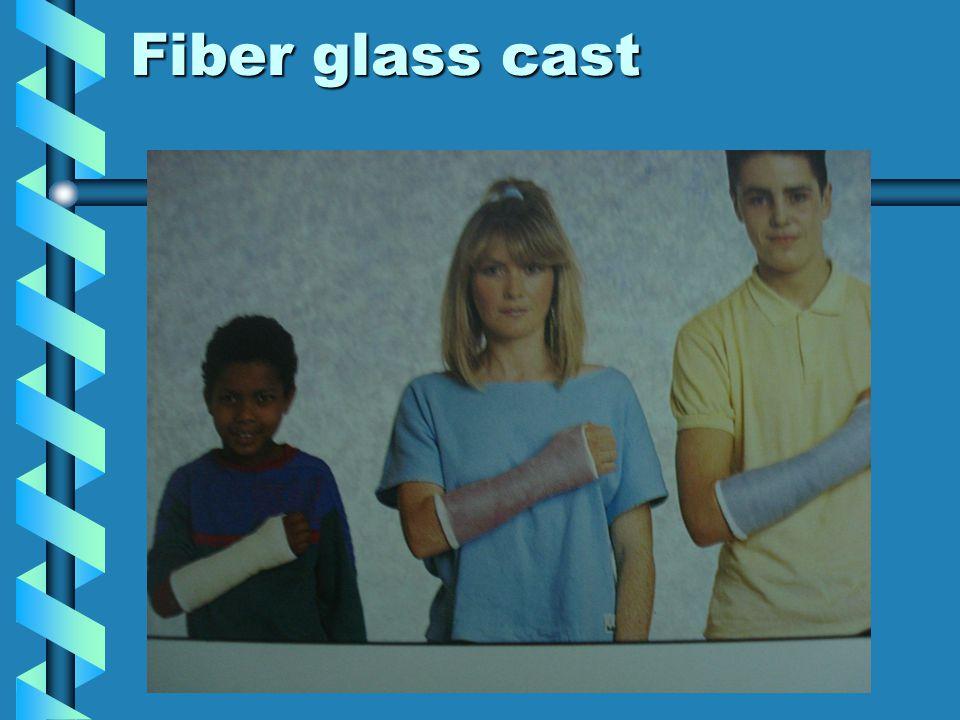 Fiber glass cast