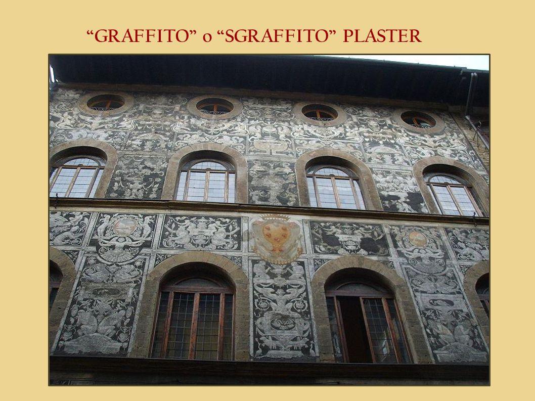 GRAFFITO o SGRAFFITO PLASTER