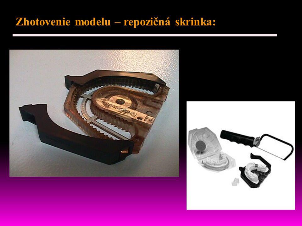 Zhotovenie modelu – repozičná skrinka: