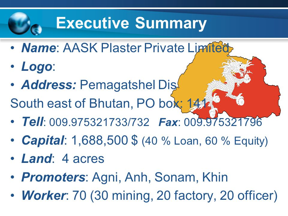 Production Programme - Plant Capacity: 4,000 MT/month (48000MTA) - Working Hour: 8 hours a day initially - Capacity utilization: 60%70%80%Full capacity 1 st year2 nd year3 rd year4 th year
