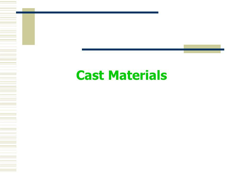 Cast Materials