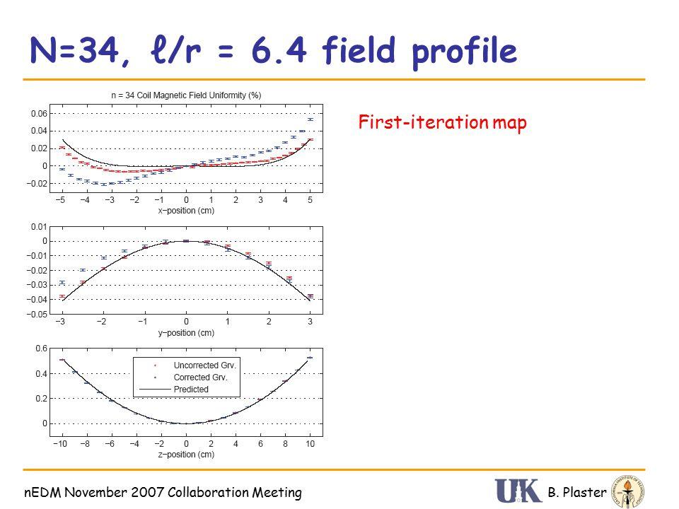 N=34, ℓ/r = 6.4 field profile B. PlasternEDM November 2007 Collaboration Meeting