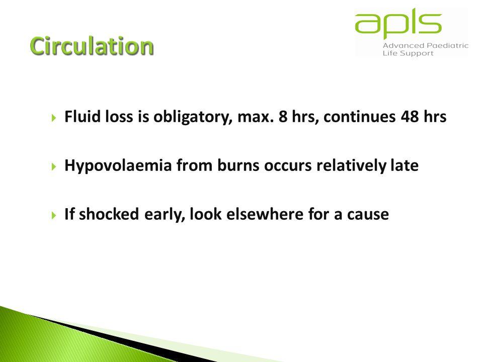  Fluid loss is obligatory, max.