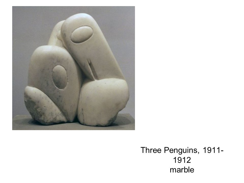 Three Penguins, 1911- 1912 marble