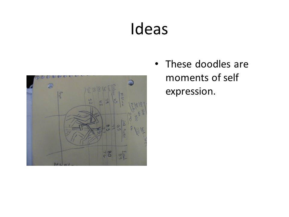 Ideas Anything that you doodle is abstract expressionistic.