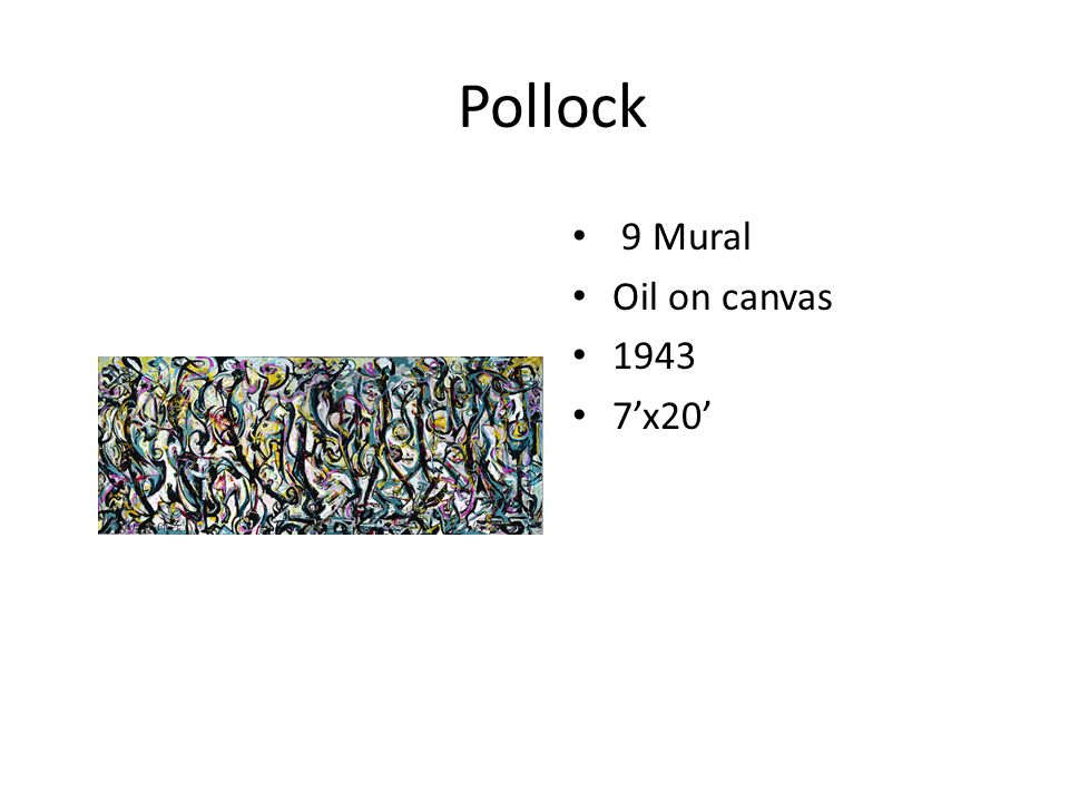 Jackson Pollock Leader of the Abstract Expressionistic Movement.