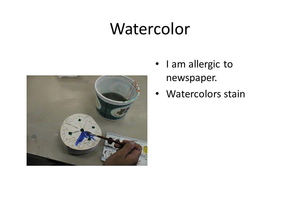 Watercolor Using analogous colors Use newspaper