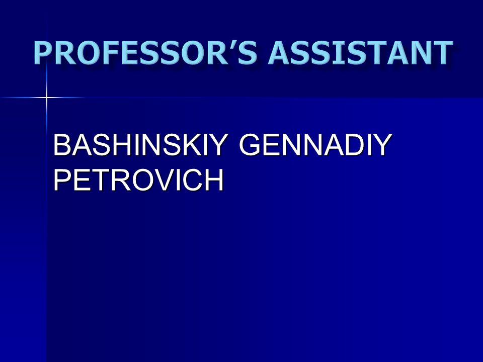 BASHINSKIY GENNADIY PETROVICH