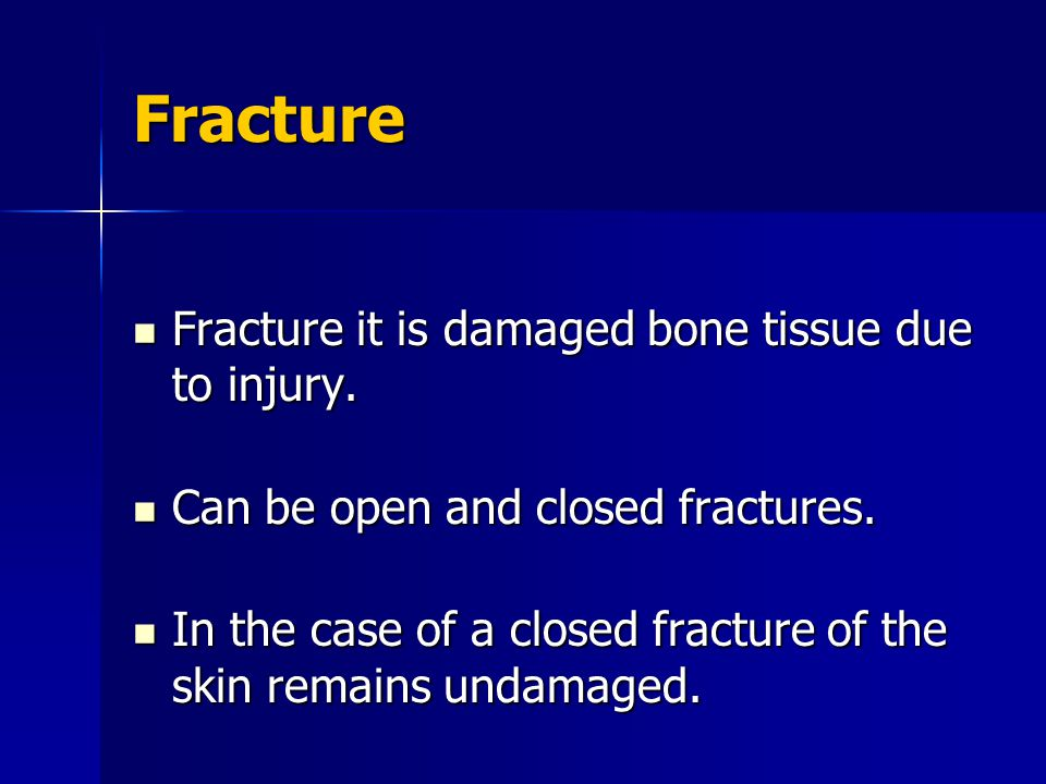 A fracture is open when a break in the skin over it brings it into communication with organisms of the outside world.