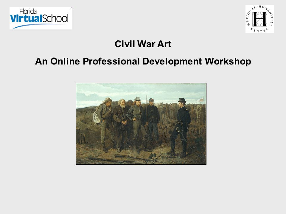 Civil War Art An Online Professional Development Workshop