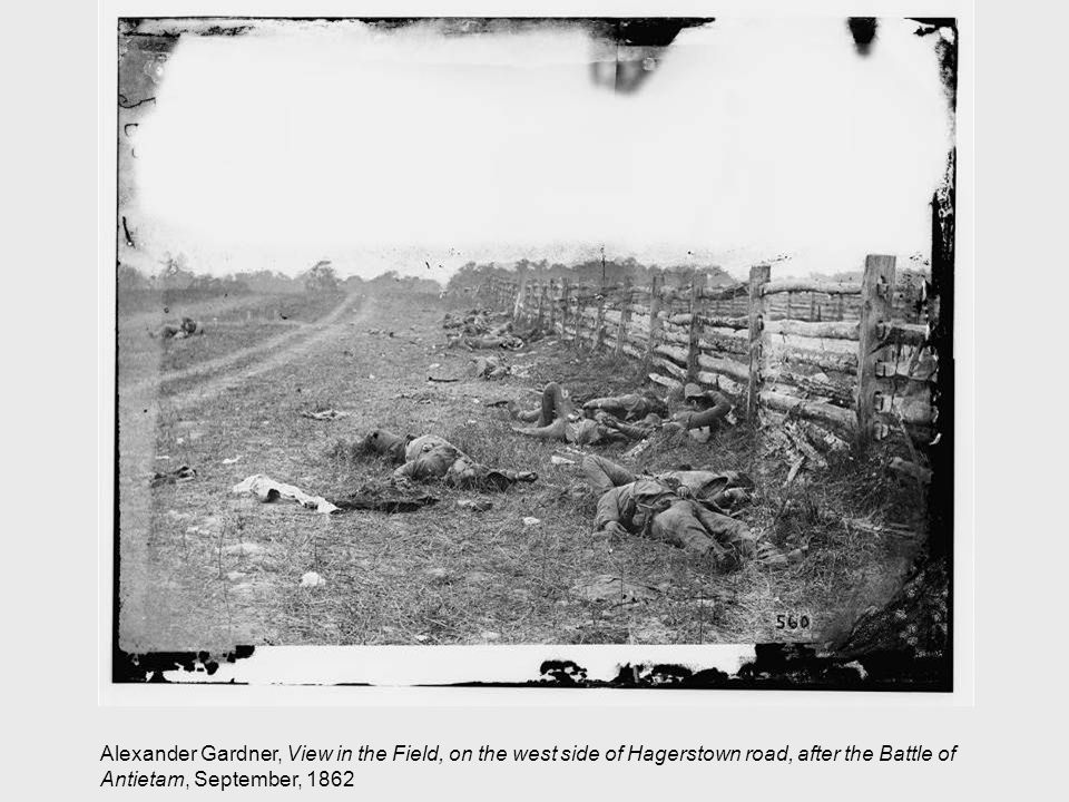Alexander Gardner, View in the Field, on the west side of Hagerstown road, after the Battle of Antietam, September, 1862