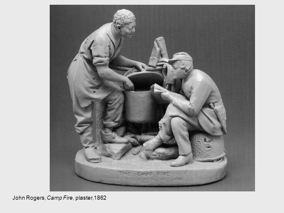 John Rogers, Camp Fire, plaster,1862