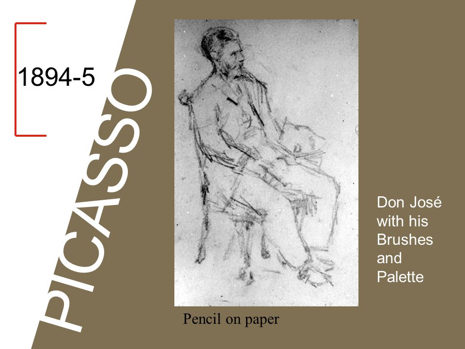 1894-5 Don José with his Brushes and Palette Charcoal on paper PICASSO Study of a Foot