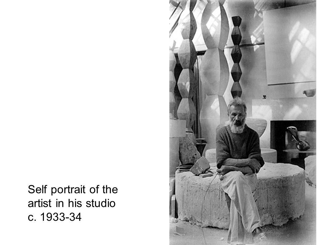Self portrait of the artist in his studio c. 1933-34