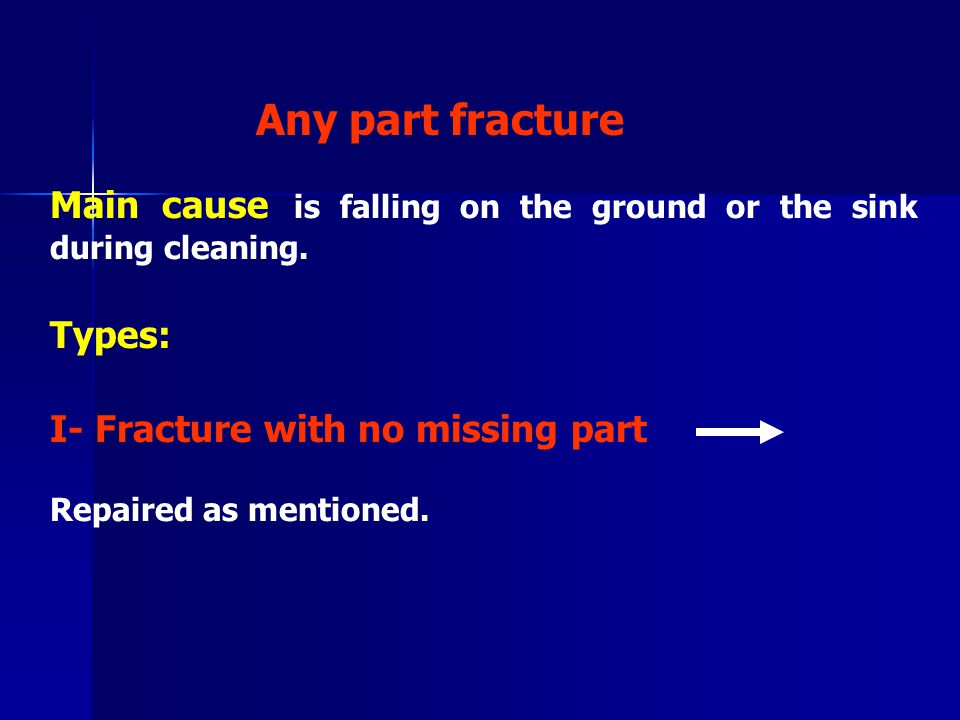 II- Fracture with missing or lost part Procedures: An impression is made with the denture placed in patient mouth.