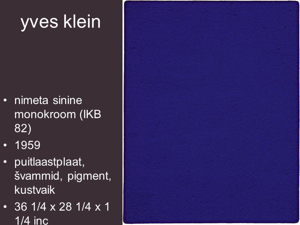 yves klein sinine pesukäsn 1959 kuiv pigment, sünteetiline käsn, metall, kivi 35 x 12 x 10