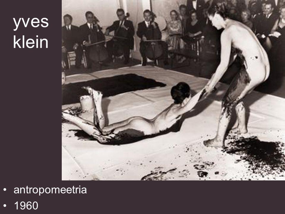 yves klein sinise epohhi antropomeetria (ANT 82) 1960 155 x 281