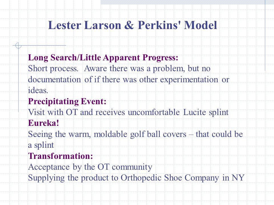 Long Search/Little Apparent Progress: Short process.