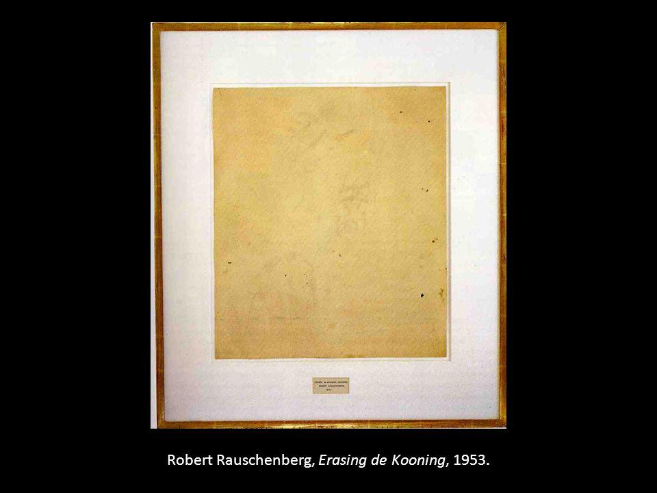 Robert Rauschenberg, Erasing de Kooning, 1953.