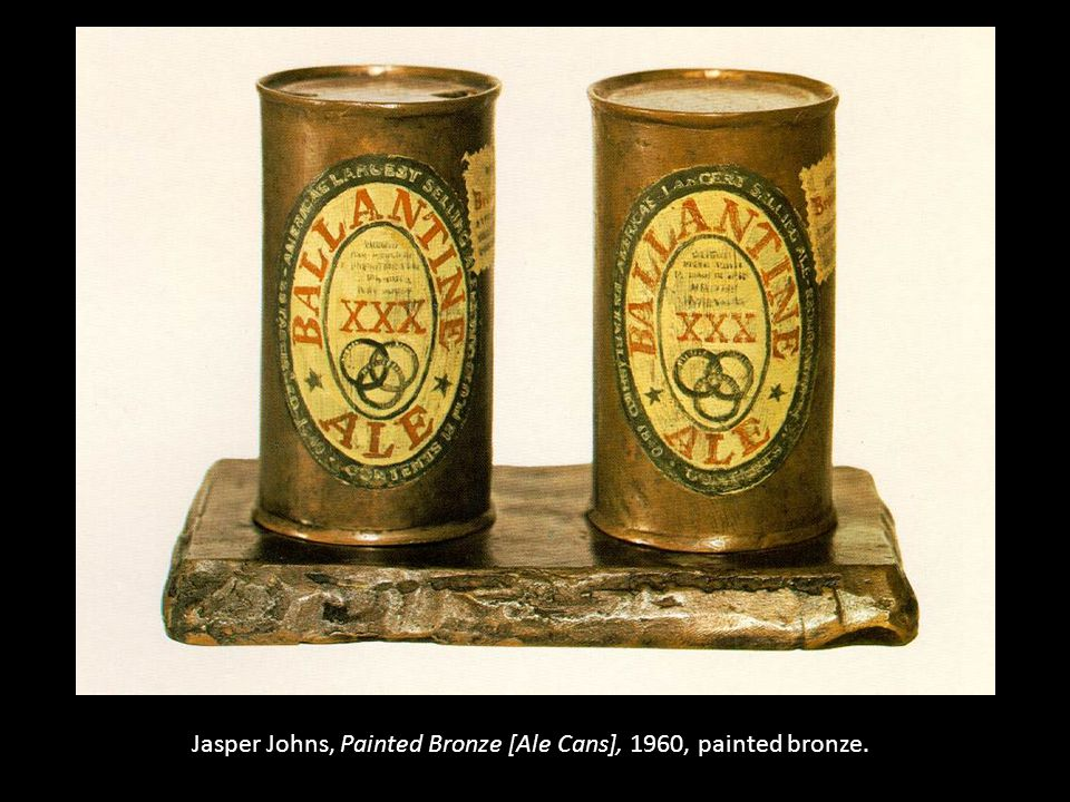 Jasper Johns, Painted Bronze [Ale Cans], 1960, painted bronze.