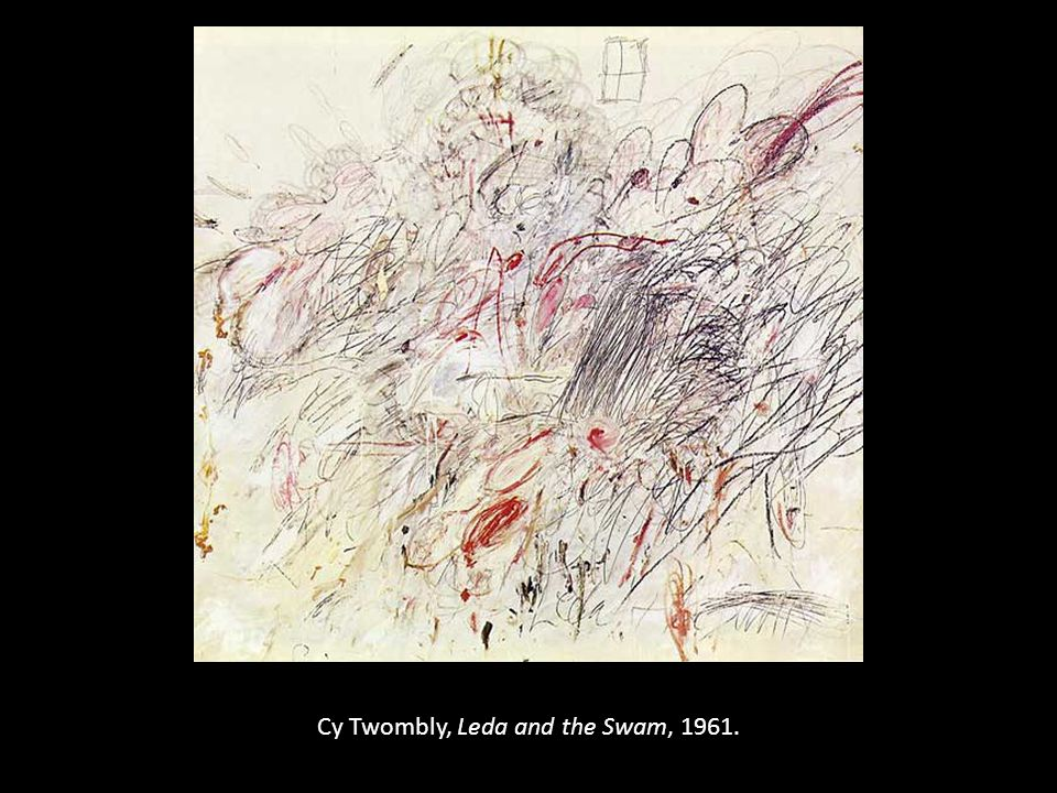 Cy Twombly, Leda and the Swam, 1961.