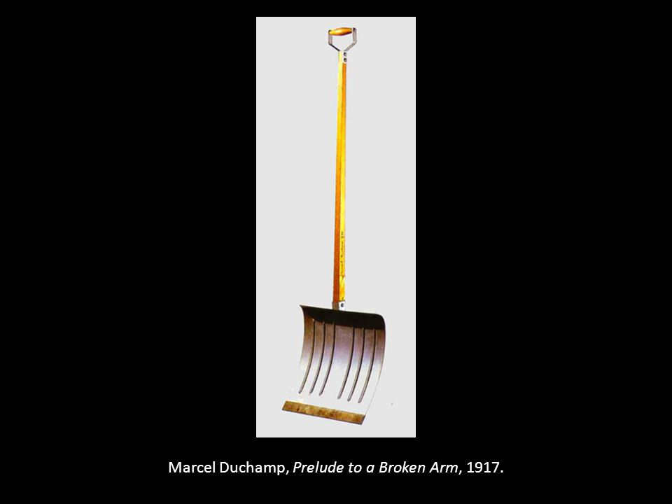 Marcel Duchamp, Prelude to a Broken Arm, 1917.