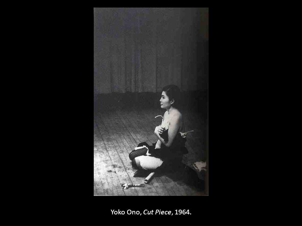 Yoko Ono, Cut Piece, 1964.