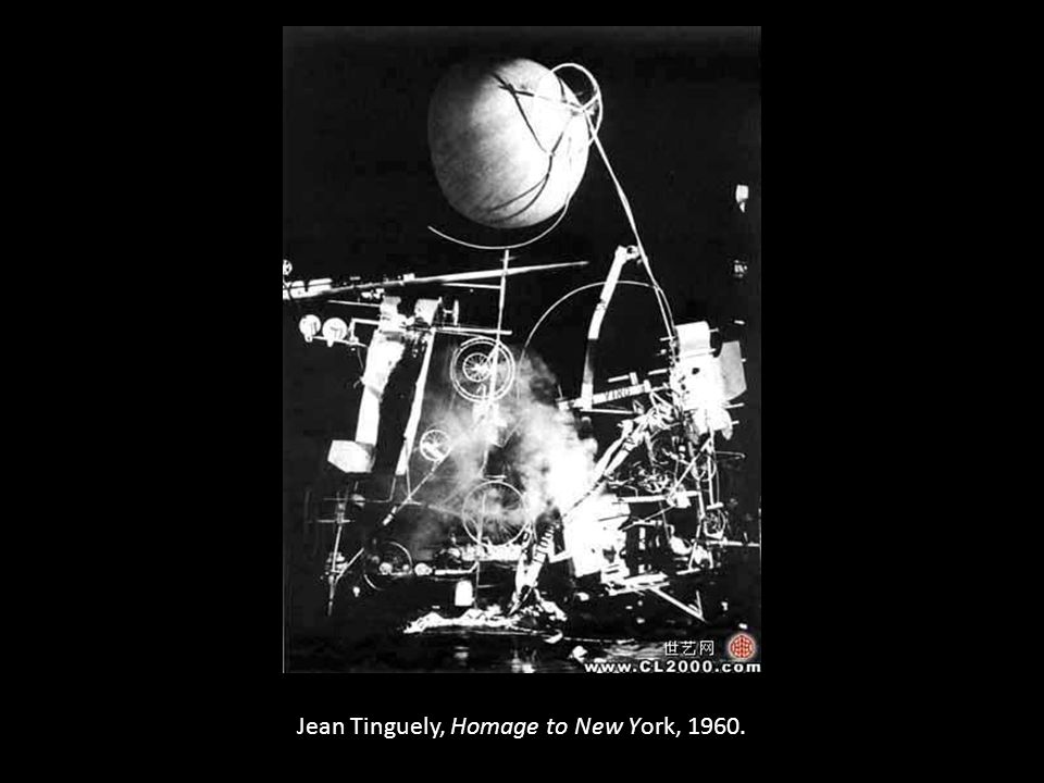 Jean Tinguely, Homage to New York, 1960.