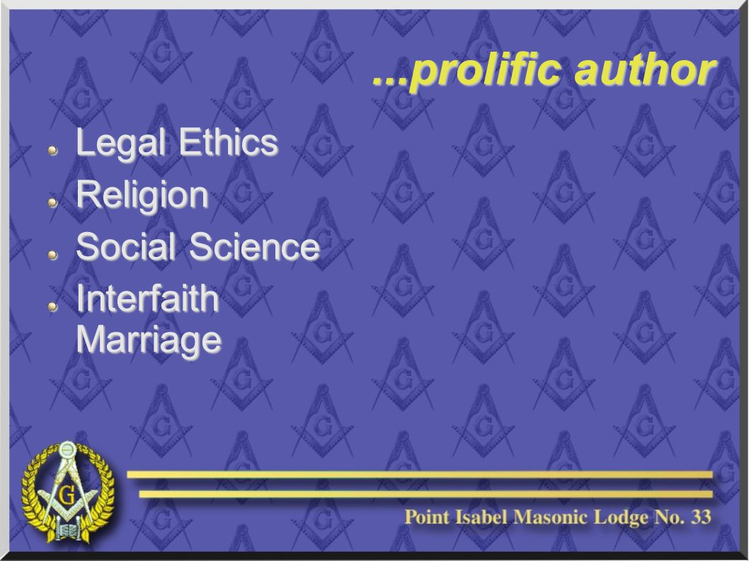 ...prolific author Legal Ethics Religion Social Science Interfaith Marriage