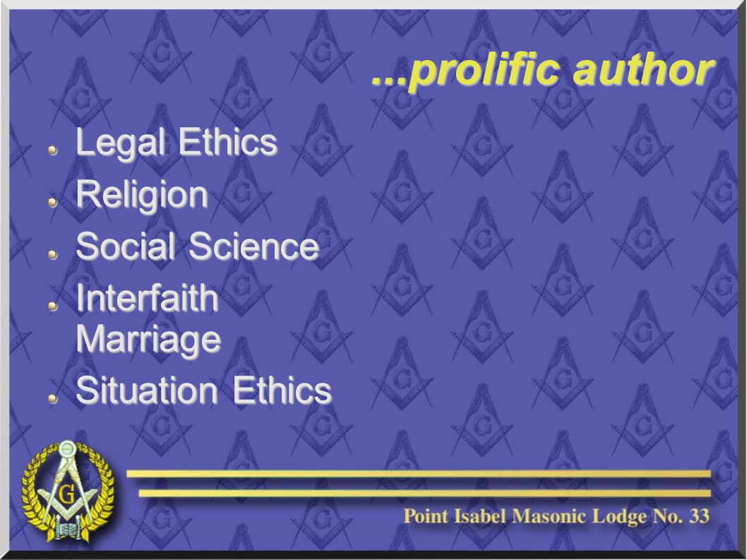 ...prolific author Legal Ethics Religion Social Science Interfaith Marriage Situation Ethics